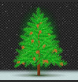 spruce tree dark transparent background vector image vector image