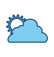 sun cloud weather vector image