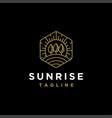 sunrise outdoor landscape logo template vector image vector image