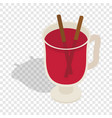 swedish glogg isometric icon vector image
