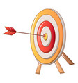 target with arrow icon cartoon style vector image vector image