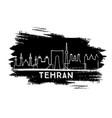 tehran iran city skyline silhouette hand drawn vector image