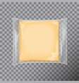 transparent square package with for cheese snacks vector image vector image