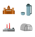 travel oil refining and other web icon in cartoon vector image vector image