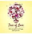 Tree of love - romantic gift card vector image vector image