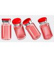 vaccine bottle set vector image