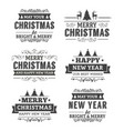 variety christmas stickers set vector image vector image