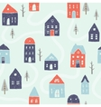 winter houses seamless pattern vector image vector image