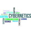 word cloud - cybernetics vector image vector image