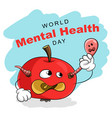 world mental health day 10 october concept card vector image