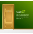 yellow door in the green wall for text vector image vector image