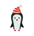 Cute penguin in flat style vector image