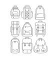 hiking school casual backpacks or rucksacks in vector image