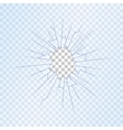 Broken Glass on Transparent Background vector image