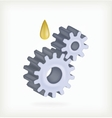 Gear and oil vector image