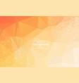 abstract dark orange geometric polygonal vector image vector image