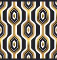 Abstract gold black retro seamless pattern