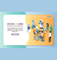 ai vs human landing page website template vector image vector image