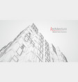architecture line background building vector image