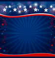 background design of usa holiday or other c vector image vector image
