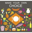 Banner Make your choice vector image vector image
