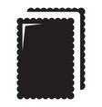 biscuit ice cream icon simple black style vector image vector image