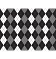 Black white gray argyle textile seamless pattern vector image vector image