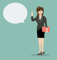 Business woman talking vector image vector image