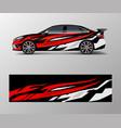 car wrap design for sport wrap design vector image vector image