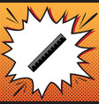 centimeter ruler sign comics style icon vector image
