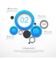 Circle design infographic vector image vector image