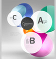 circle geometric abstract background vector image vector image