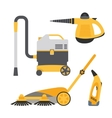 Cleaning equipment set vector image vector image
