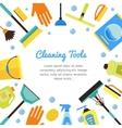 Cleaning Tools Banner for House Services vector image