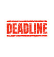 deadline stamp approaching seal overdue stamp vector image
