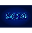 Electric 2014 year sign vector image vector image