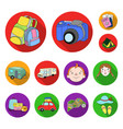 family holiday flat icons in set collection for vector image vector image