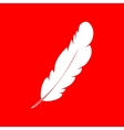 Feather sign vector image vector image