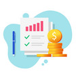 finance statistics sales data with paper report vector image vector image