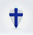 Finland icon point for map vector image vector image
