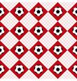 Football Ball Red White Chess Board Diamond vector image