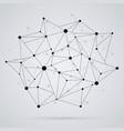 geometric polygonal structures mesh black color vector image