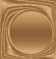 gold metal picture frame from the right circle vector image vector image