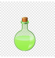 green glass flask icon cartoon style vector image vector image