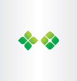 green icon square leaf logo elements vector image vector image