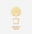 Growth concept and logo design element vector image vector image