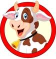 Happy cartoon cow vector image vector image