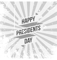 Happy Presidents Day Text with Ribbon vector image vector image