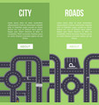 highway traffic banner with crossing roads vector image