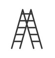 ladder icon handyman tool and equipment vector image